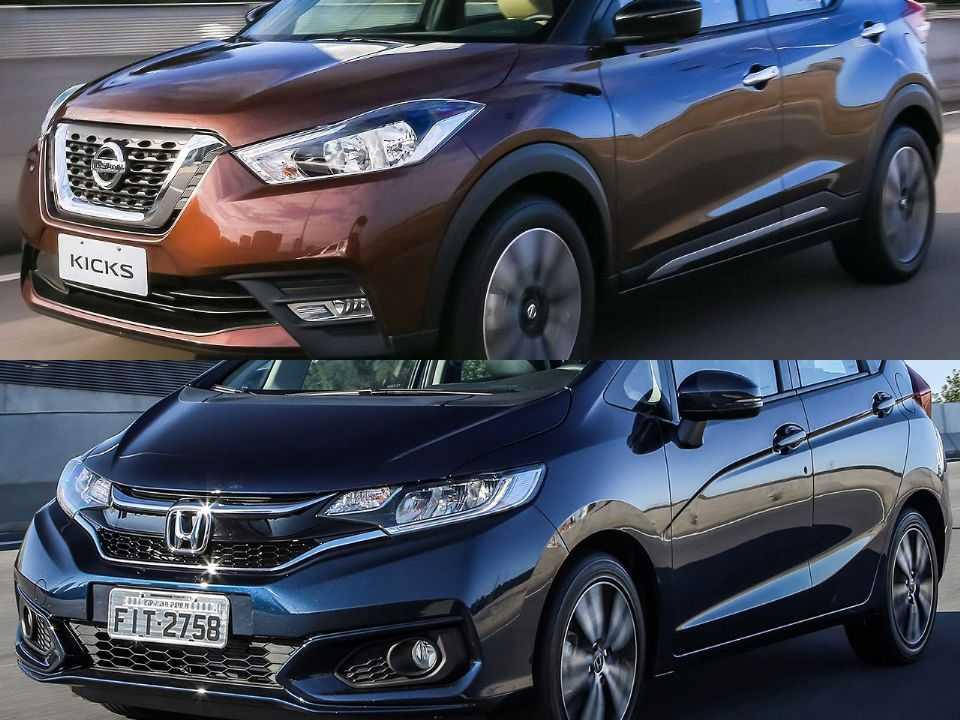 Nissan Kicks e Honda Fit