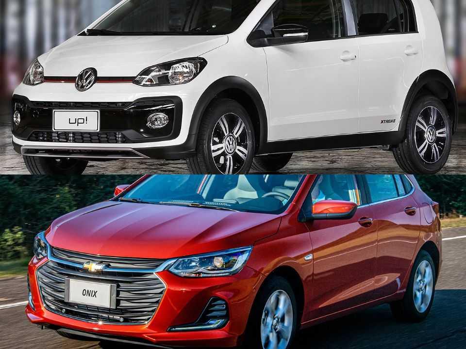 Volkswagen up! e Chevrolet Onix