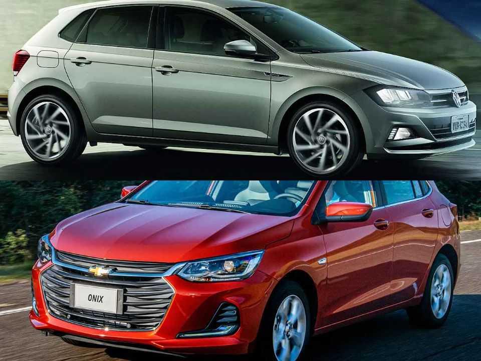 Volkswagen Polo e Chevrolet Onix