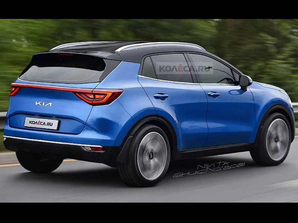 Projeção do site russo Kolesa antecipando a nova geração do Kia Sportage
