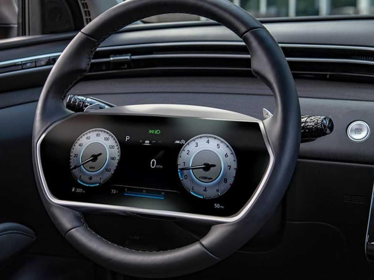 Patente da Hyundai revela projeto de volante com painel de instrumentos