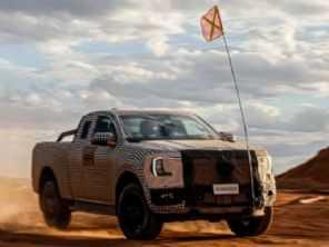 Ainda camuflada, nova Ford Ranger tem mais detalhes antecipados
