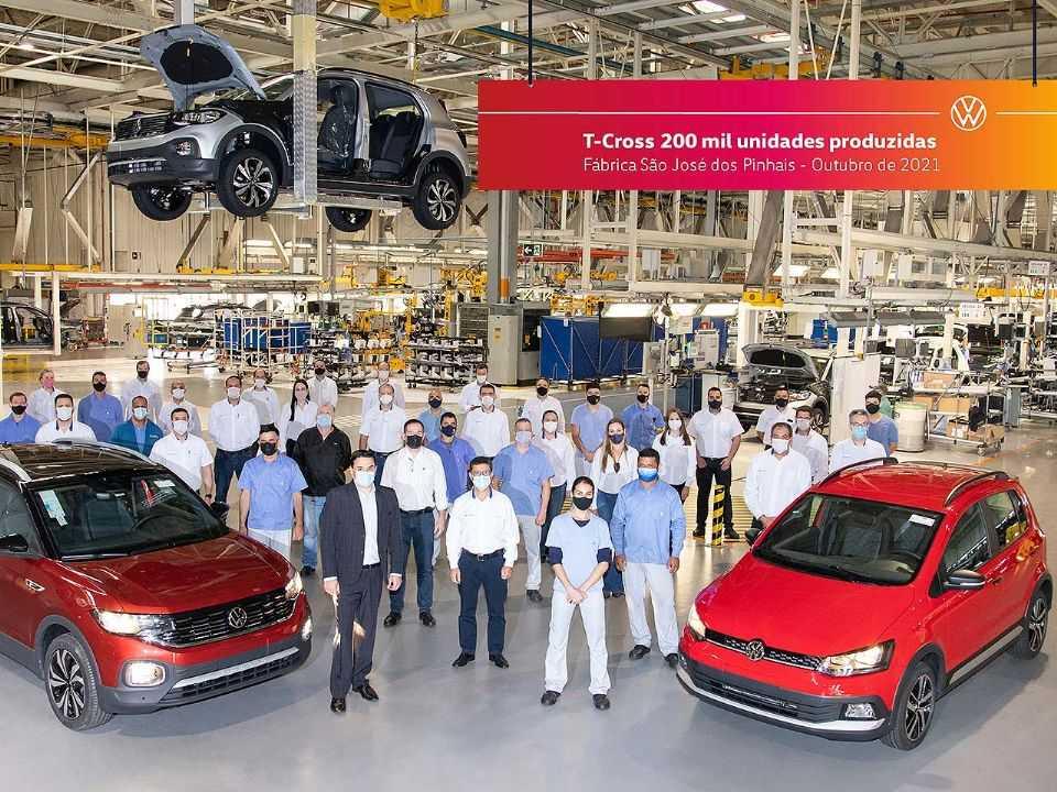 Detalhe da última unidade do VW Fox produzida em São José dos Pinhais (PR)
