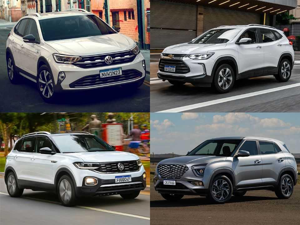 VW Nivus, Chevrolet Tracker, VW T-Cross e Hyundai Creta