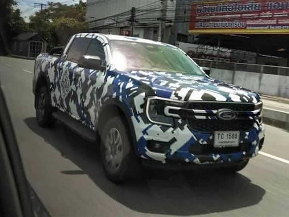 Flagra antecipa a dianteira da nova geração da Ford Ranger
