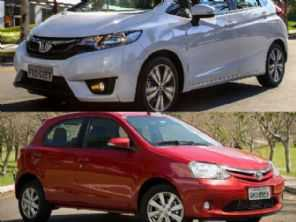 Usados com câmbio automático: Honda Fit LX ou um Toyota Etios X?