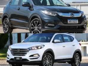 Hyundai New Tucson GLS 2018 ou um Honda HR-V EX 2021?
