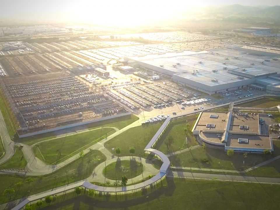 Vista aérea da fábrica de Porto Real (RJ)