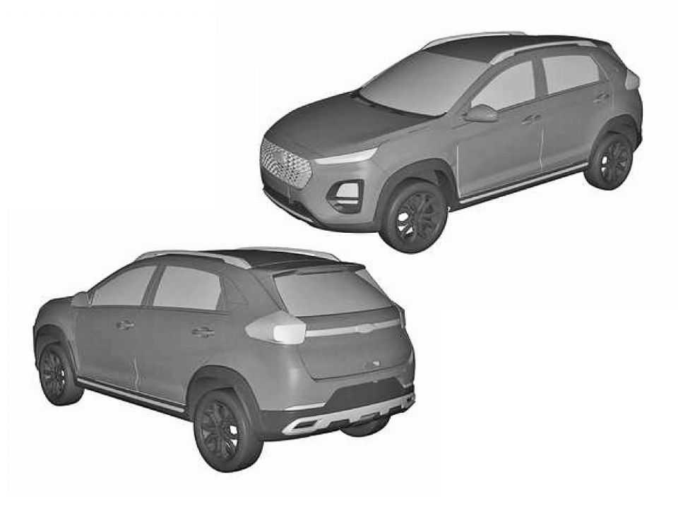 A CAOA Chery patenteou o novo visual do Tiggo 2