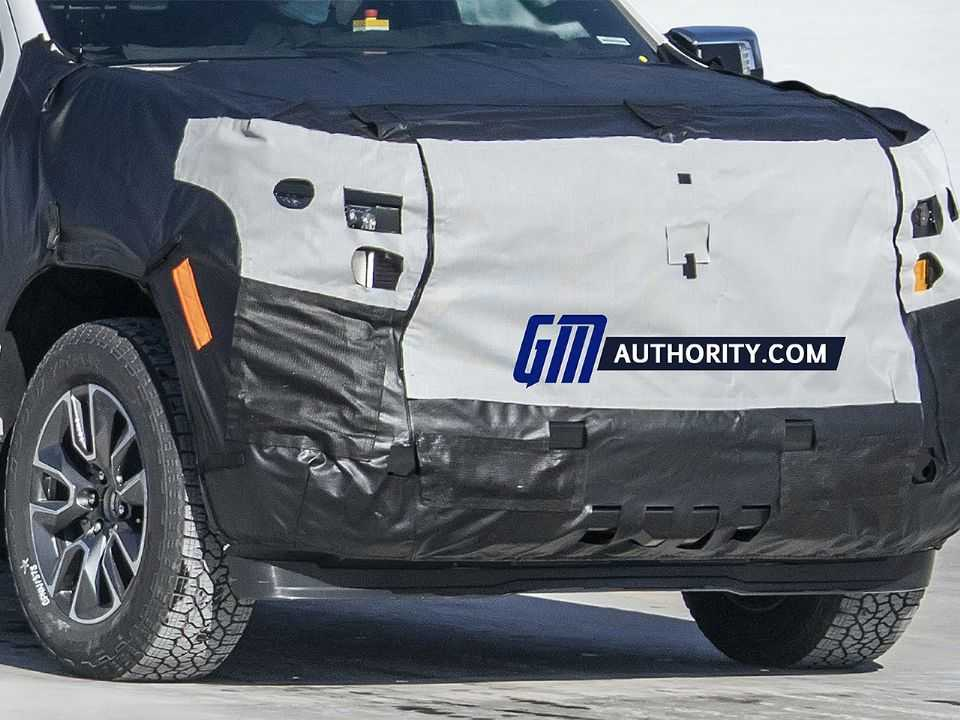 Flagra da Chevrolet Silverado 2022 em teste nos EUA