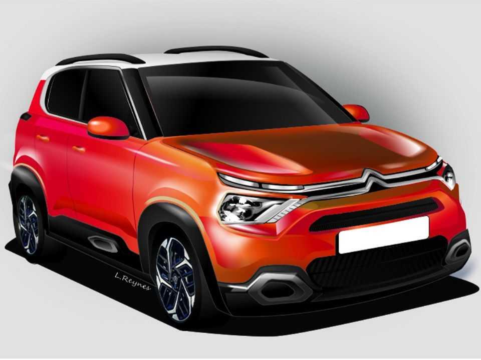 Ilustração de L.Reynes para o eventual SUV pequeno da Citroën desenvolvido na Índia para mercados emergentes