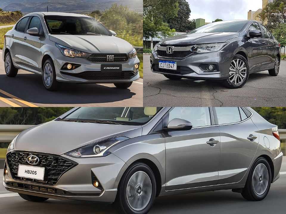 Fiat Cronos, Honda City e Hyundai HB20S