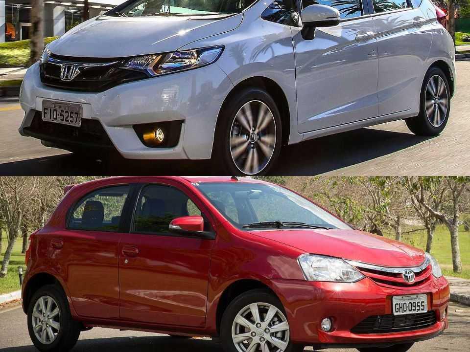 Honda Fit e Toyota Etios