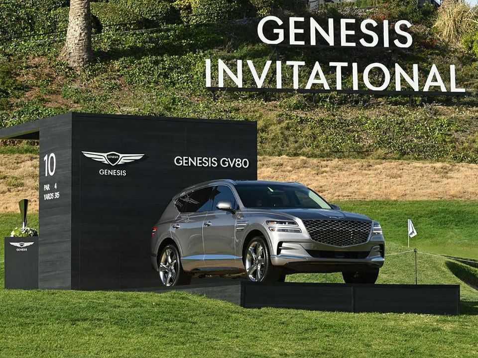 O SUV GV80 no torneio de golfe patrocinado pela marca sul-coreana