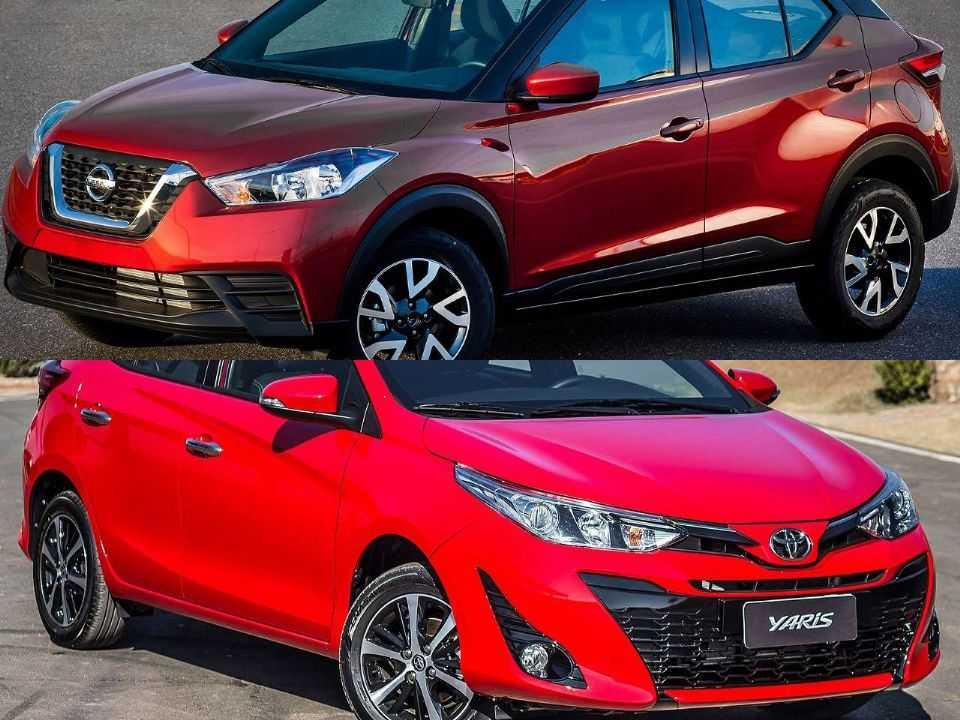 Nissan Kicks e Toyota Yaris