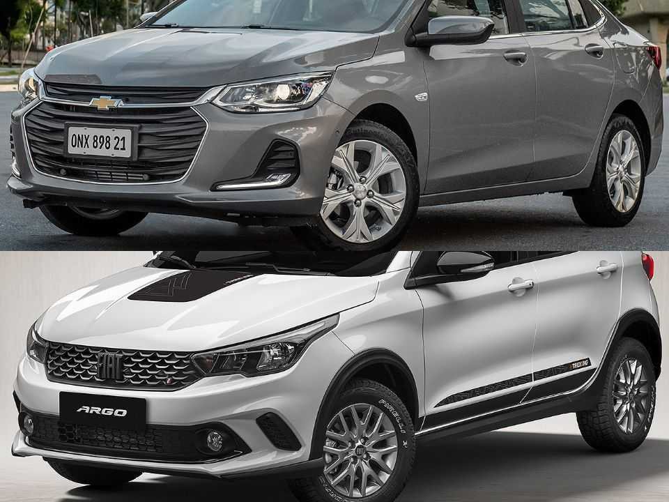 Chevrolet Onix Plus e Fiat Argo