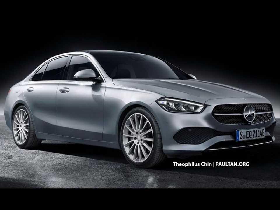 Projeção de Theophilus Chin para a nova geração do Mercedes-Benz Classe C