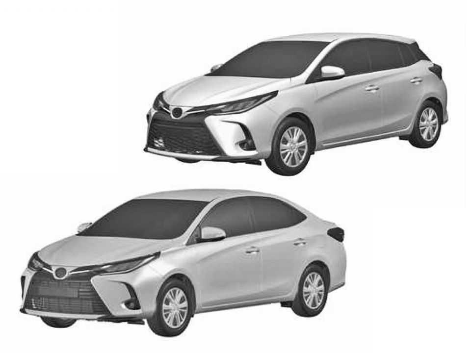 A Toyota prepara uma reestilização para a dupla Yaris