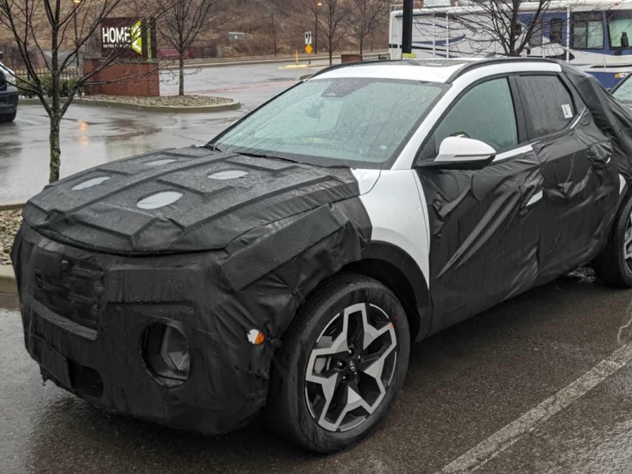 Hyundai Santa Cruz flagrada nos EUA