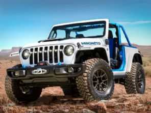 Jeep mostra conceito do Wrangler elétrico com câmbio manual