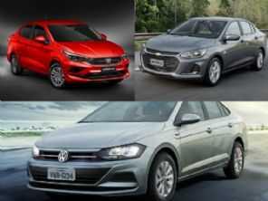 Sedã para usar também como táxi: VW Virtus, Chevrolet Onix Plus ou Fiat Cronos?