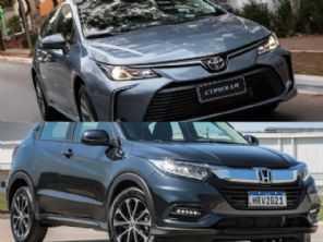 Toyota Corolla XEi 2022 ou um Honda HR-V EXL 2021?