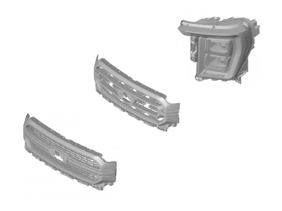 Imagem mostra algumas das peças da Ford F-150 registradas no Brasil