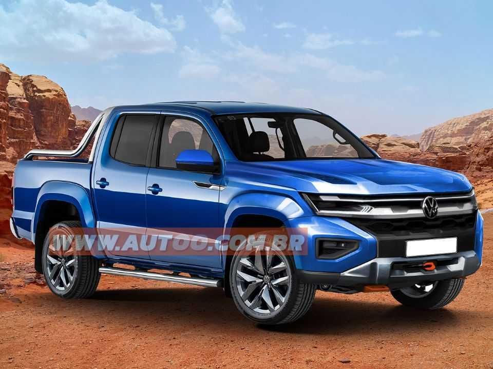 Baseado em ilustração da VW, designer Kleber Silva antecipa a dianteira da nova Amarok