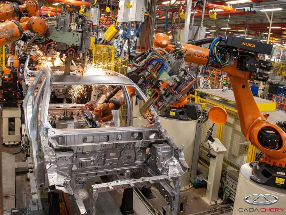 Detalhe da fábrica da CAOA Chery em Jacareí (SP): investimentos para a produção de novo modelo