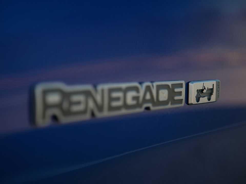 Detalhe do Jeep Renegade 80th Anniversary lançado na Europa