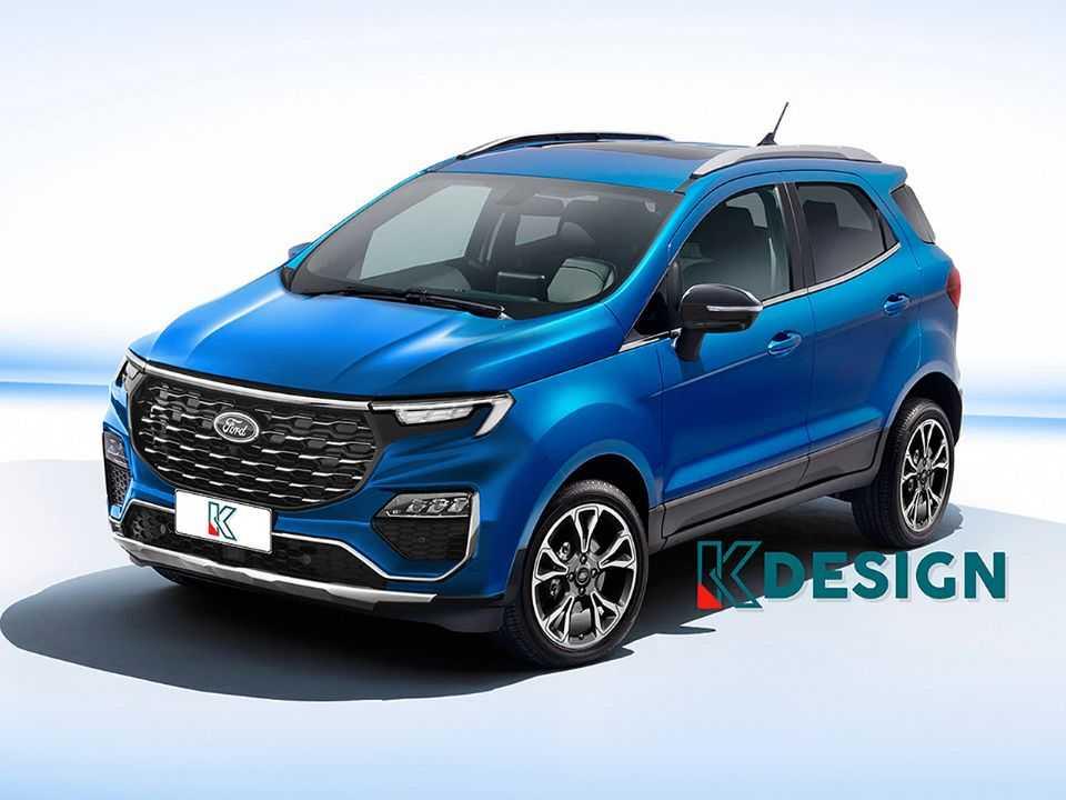 Projeção de Kleber Silva para o facelift do Ford EcoSport vendido no mercado indiano