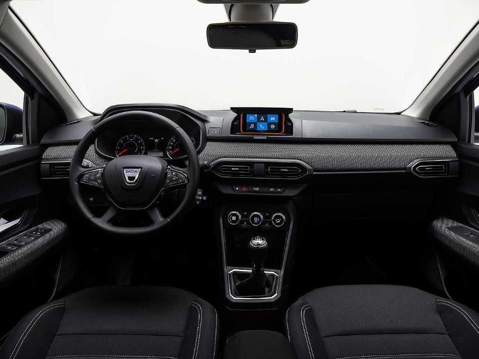 Interior da nova geração do Sandero com o sistema Media Control