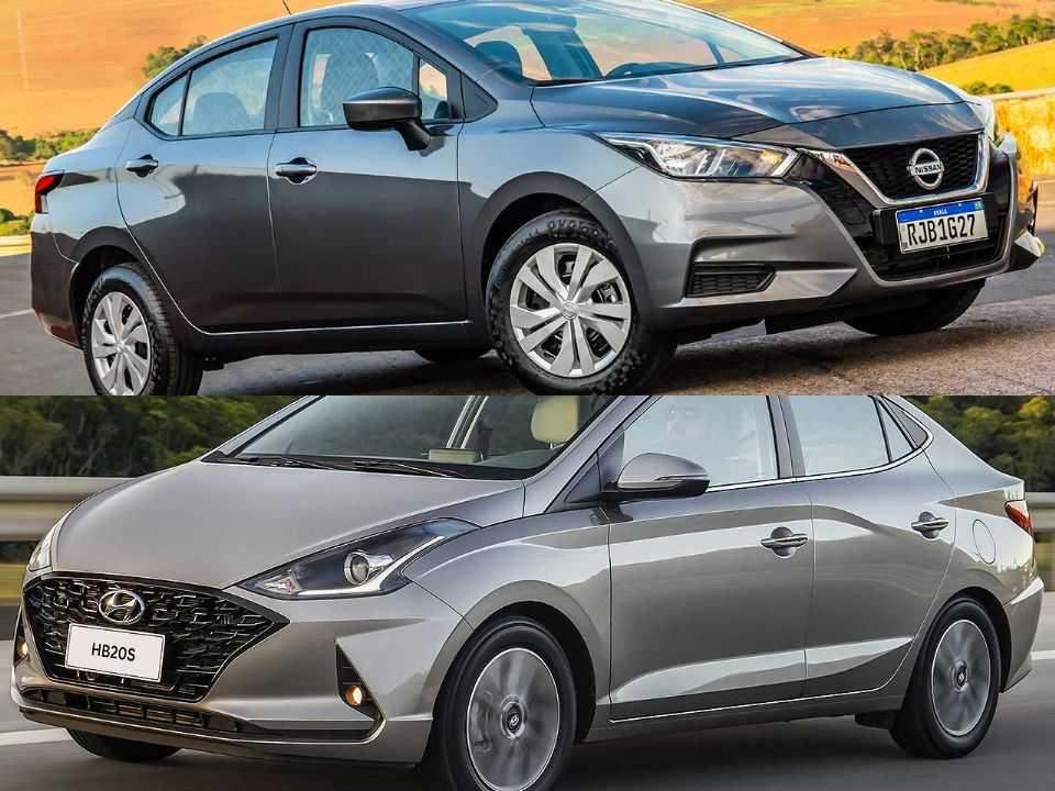 Nissan Versa e Hyundai HB20S