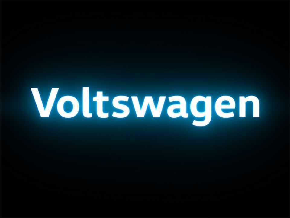 Detalhe da identificação visual da Voltswagen nos EUA