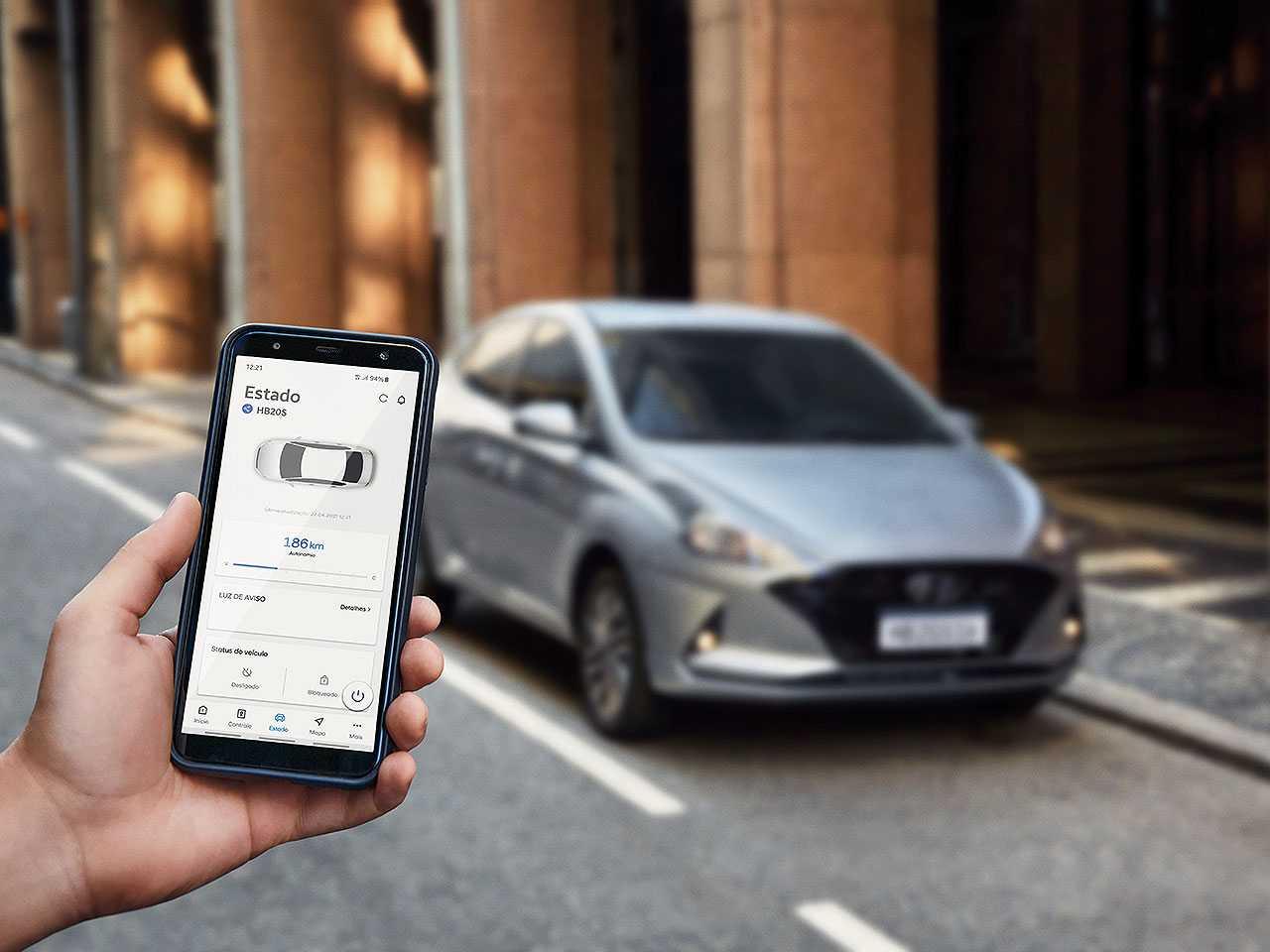 Bluelink, da Hyundai, permite controlar remotamente algumas funções do carro