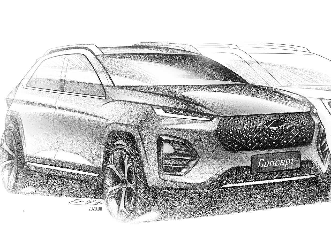 Teaser da CAOA Chery antecipando seu novo SUV subcompacto para o mercado brasileiro