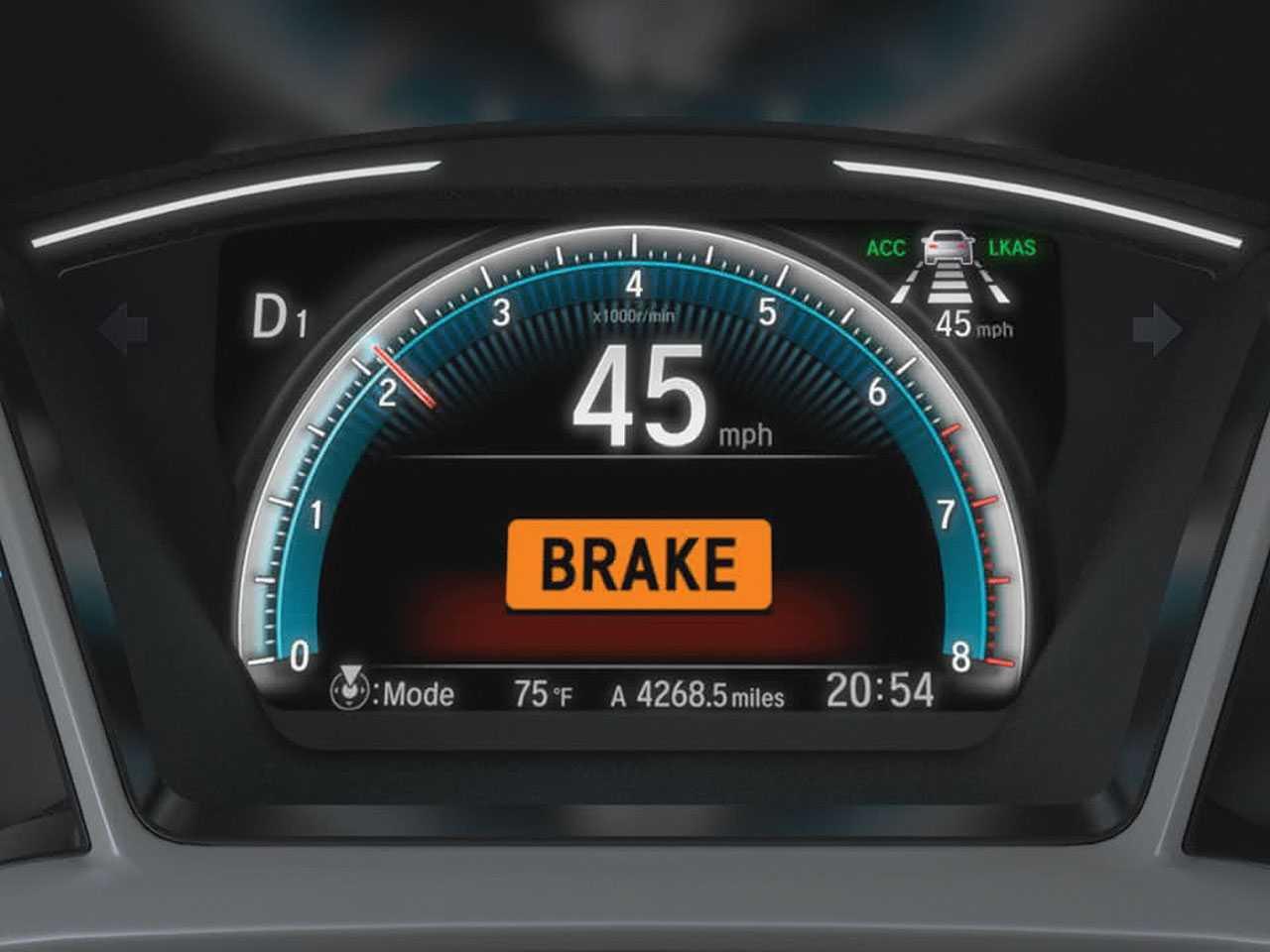 Alerta de colisão com frenagem autônoma de emergência é um dos itens que integram o Honda Sensing