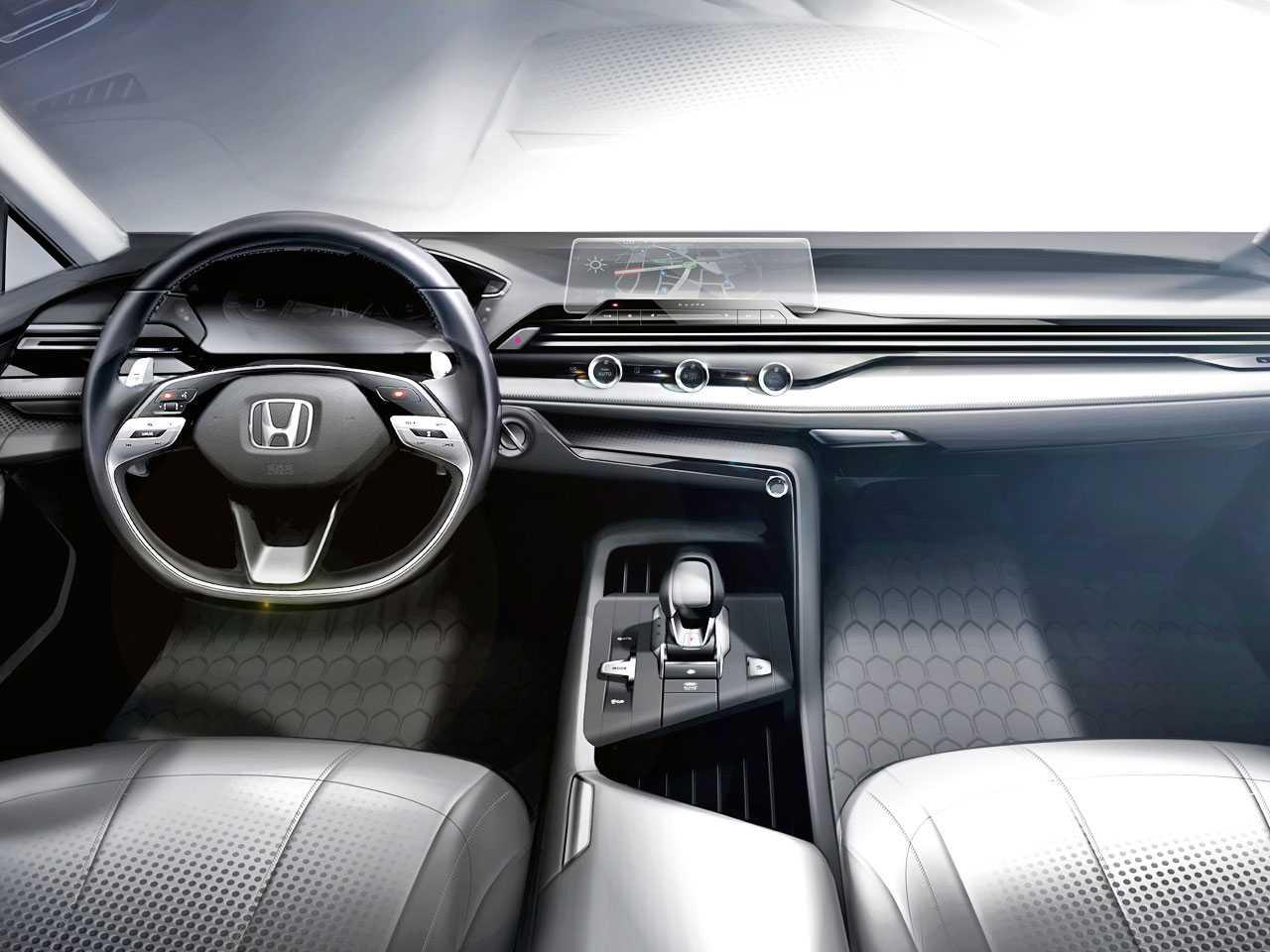 O painel conceitual da Honda: simplicidade aliada à tecnologia