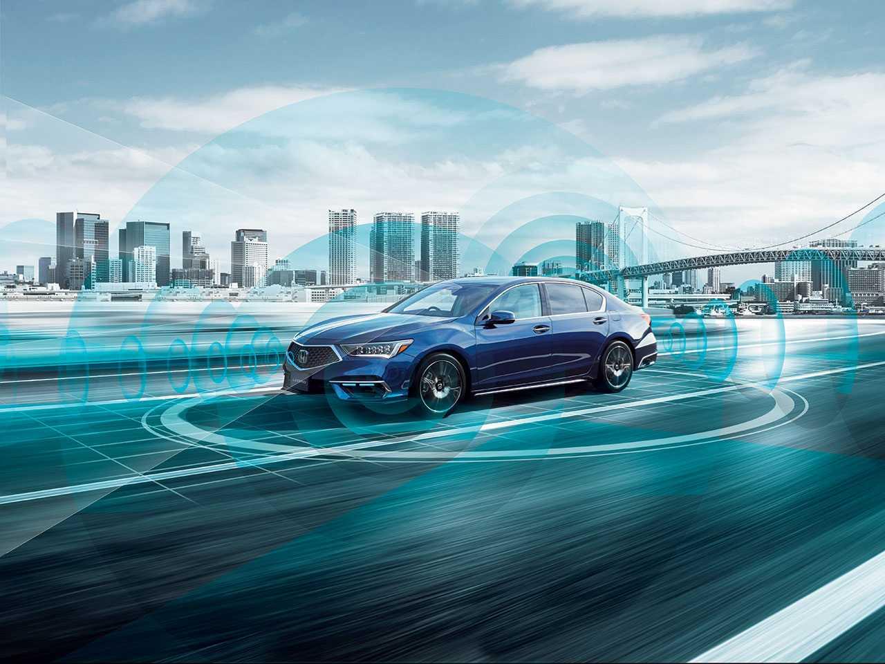 Acima o Legend Hybrid EX com o sistema Honda Sensing Elite