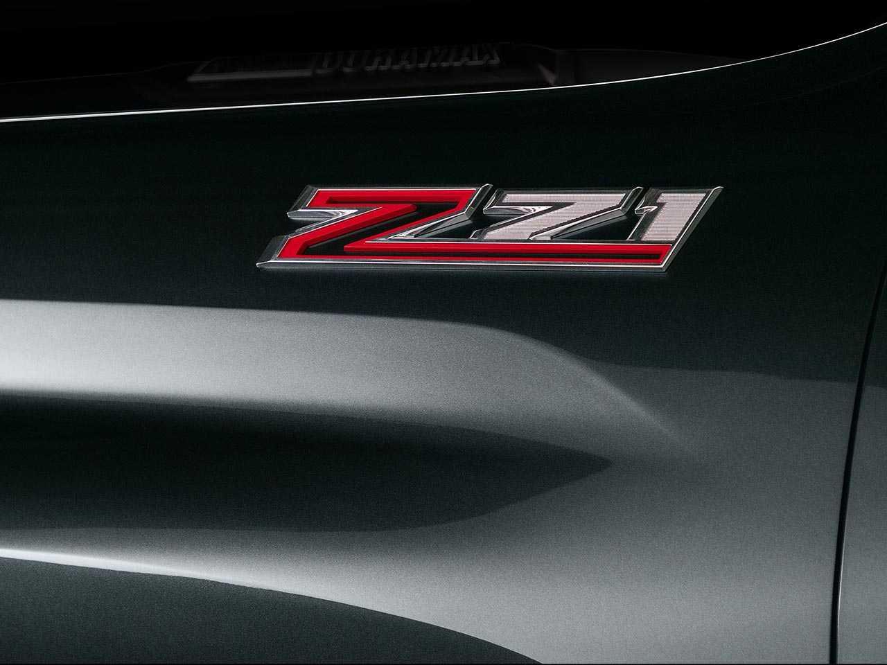 Detalhe do logotipo Z71 identificando a versão em alguns utilitários da Chevrolet