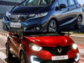 Seminovos 2019: Renault Captur Life ou um Honda Fit LX?