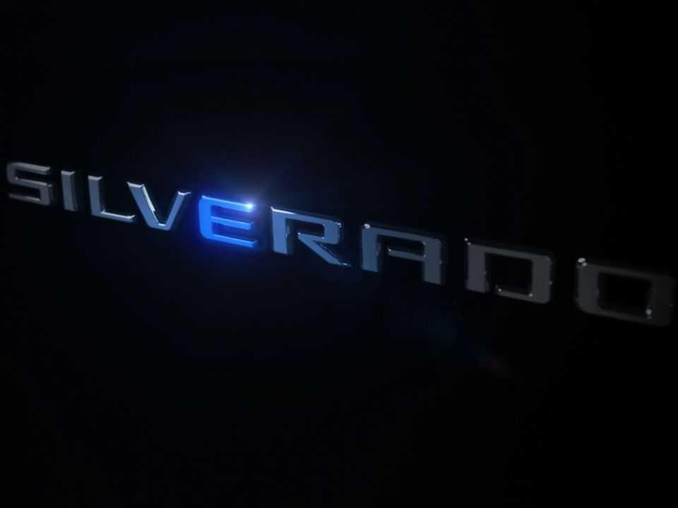 Teaser da Chevrolet Silverado elétrica