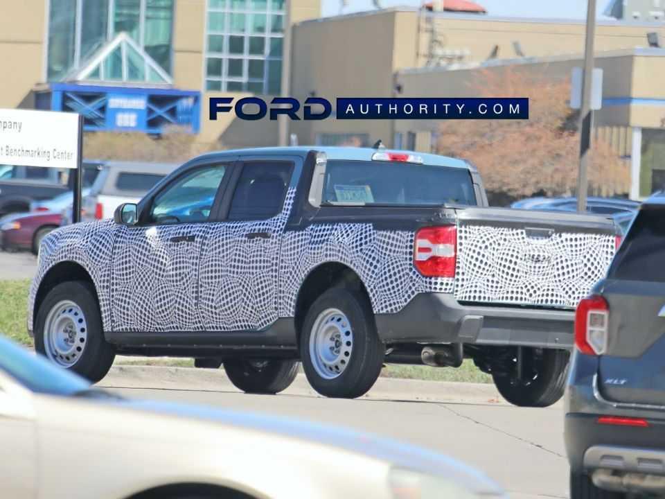Flagra mostra a nova Ford Maverick de entrada em testes nos EUA