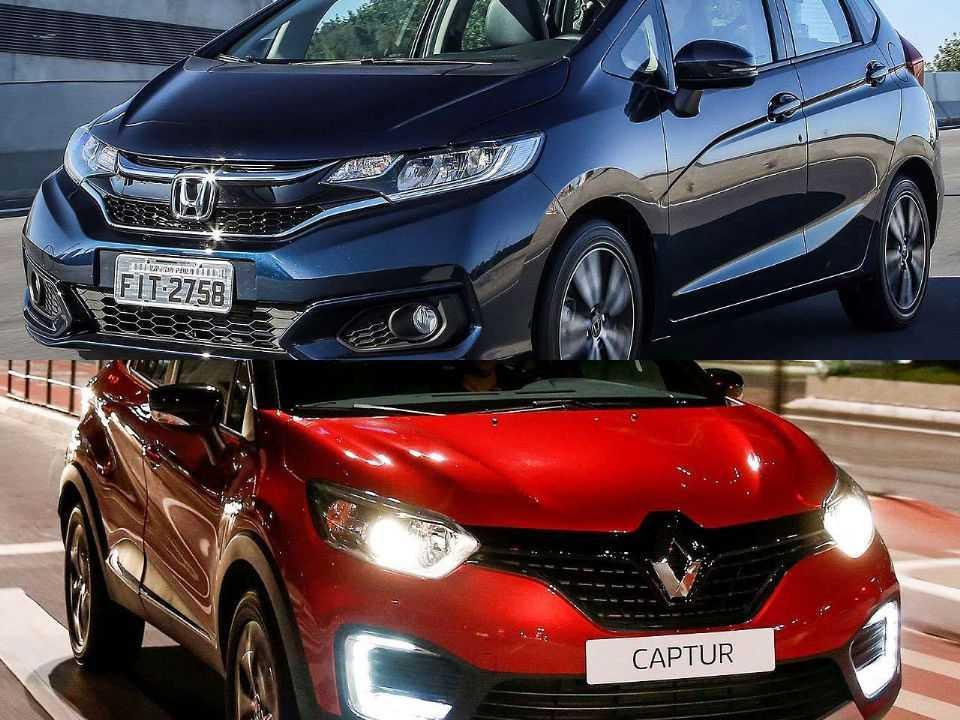Honda Fit e Renault Captur