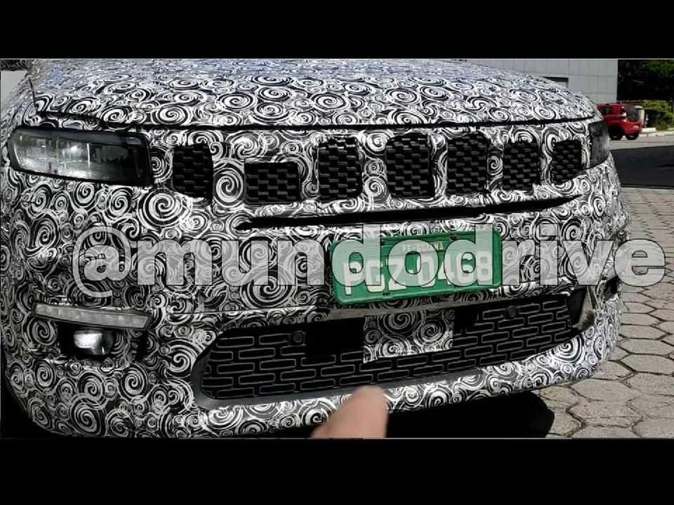 Flagra do inédito SUV 7 lugares da Jeep que será produzido no Brasil
