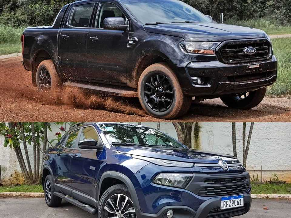 Ford Ranger Black e Fiat Toro Ultra