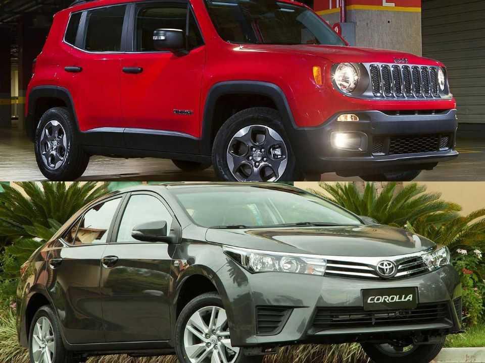 Jeep Renegade e Toyota Corolla