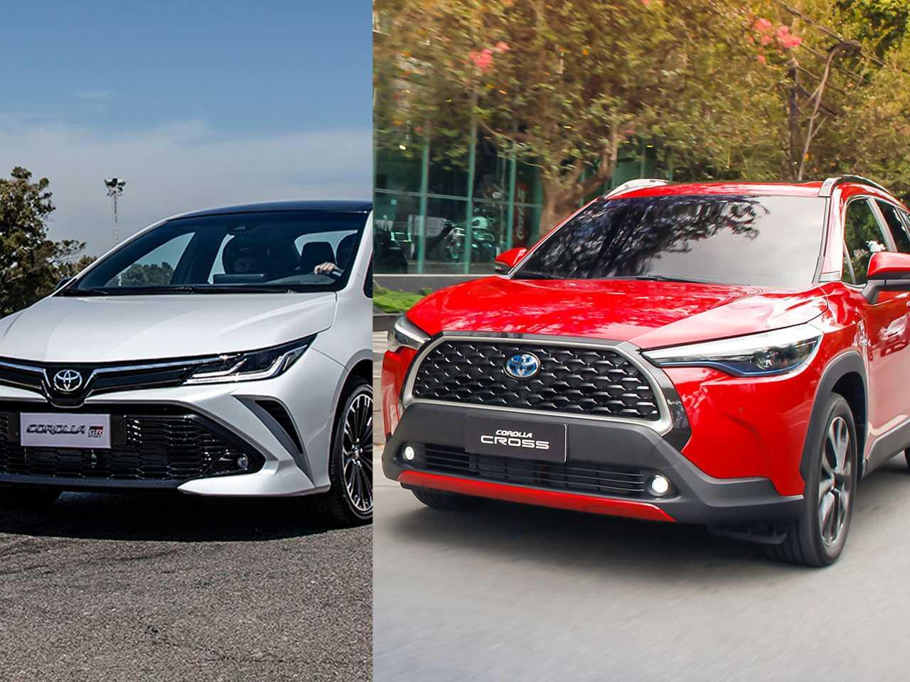 Corolla sedã e Cross: SUV dá pinta de que pode superar seu irmão mais velho