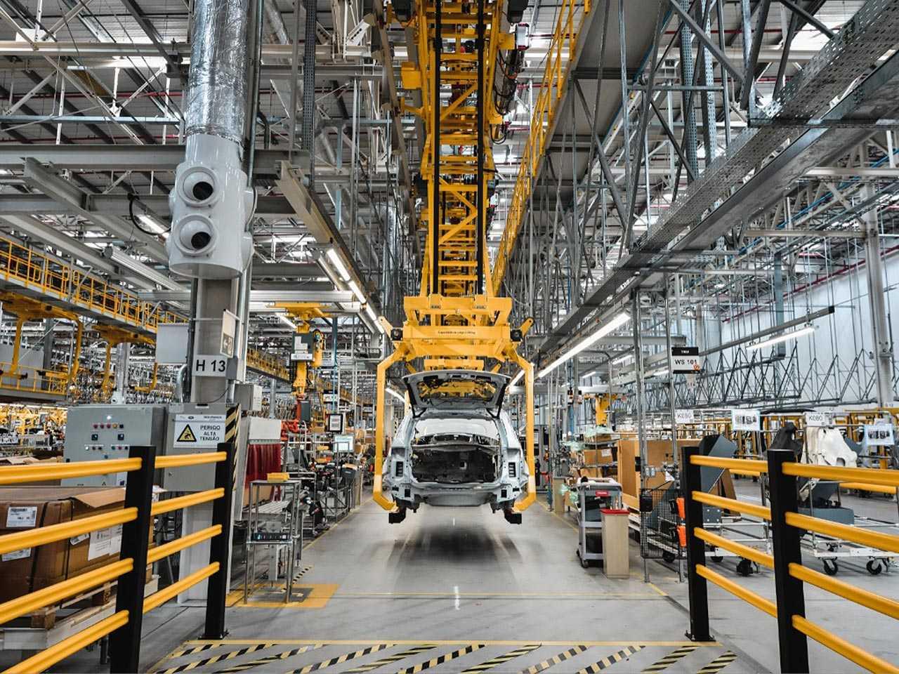 Detalhe da fábrica da Jaguar Land Rover em Itatiaia (RJ)