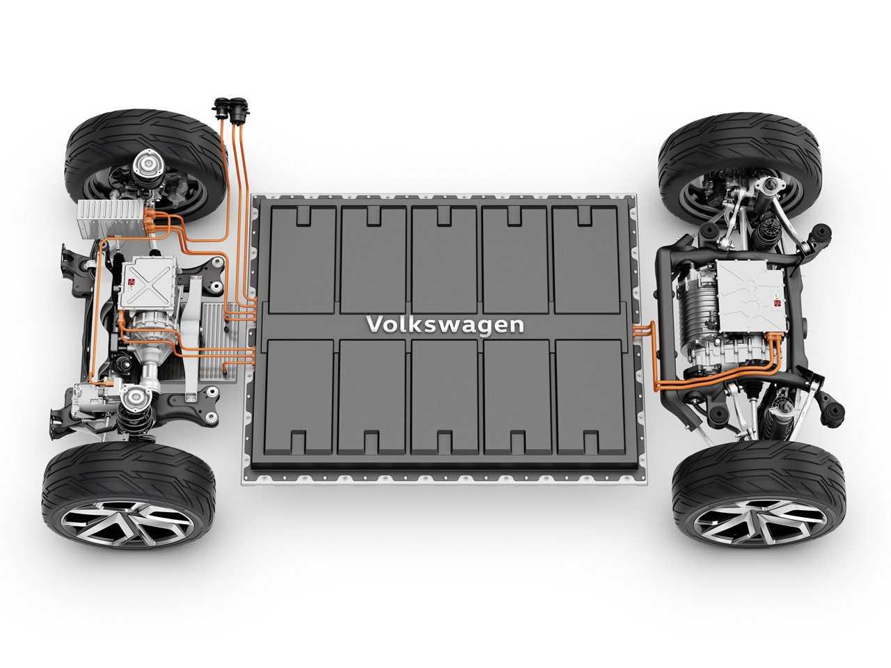 A plataforma de um carro elétrico: menos peças